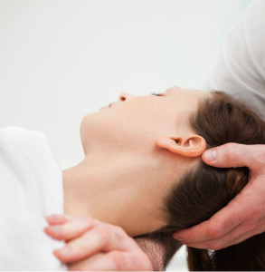 woman receiving chiropractic services